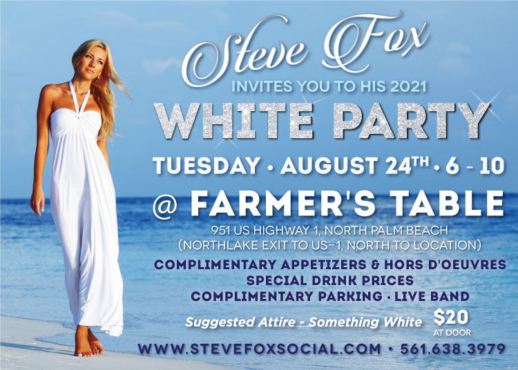 Steve Fox Invites You to his Summer Soiree at Delray Market!